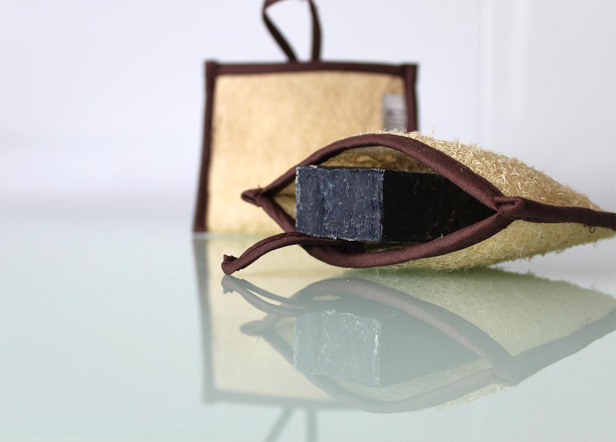 Saco esponja luffa para meter el jabón