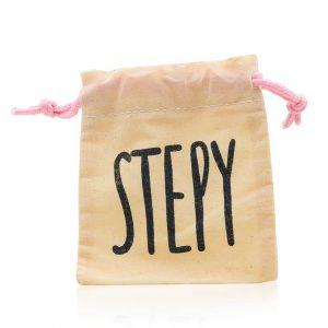 Bolsa de tela de algodón reciclado para guardar y transportar jabón, la copa menstrual o una compresa de tela