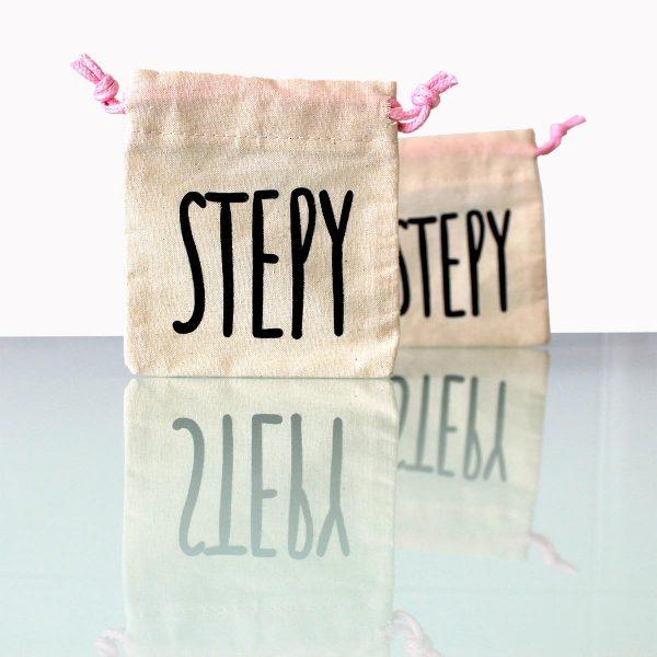 Saco Stepy para guardar y transportar jabón, la copa menstrual o una compresa de tela